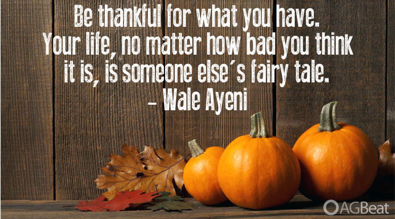 Thanksgiving quote AGBeat
