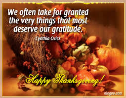 Thanksgiving quote Alegro