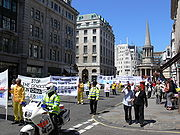 Falun Gong Protest in London