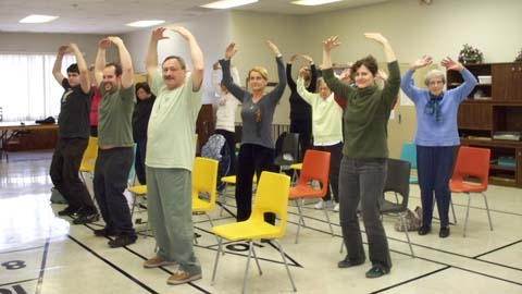 Qigong practice at WTCQD 2010
